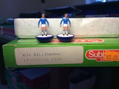 Subbuteo LW Team - Gillingham Leicester City Ref 631. Perfect Condition. Rare