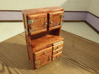 doll house furniture mahogany  kitchen work cupboard 1.12th