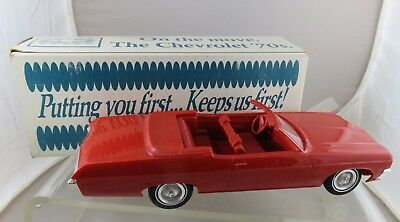 1970 Red Chevrolet Impala Convertible Car Dealership Promo in Box