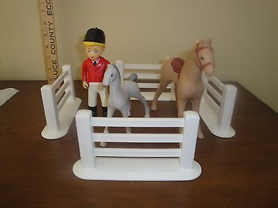 1994 Little Tikes Place Horse & Rider Set 5556 Complete No Box