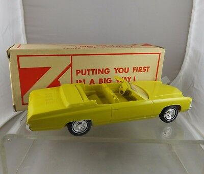 1971 Sunflower Yellow Chevrolet Impala Convertible Car Dealership Promo in Box