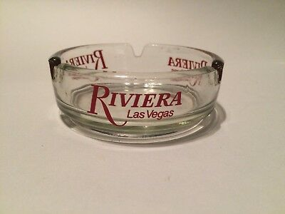 Vintage Riviera Hotel Casino Las Vegas Clear Glass Ashtray