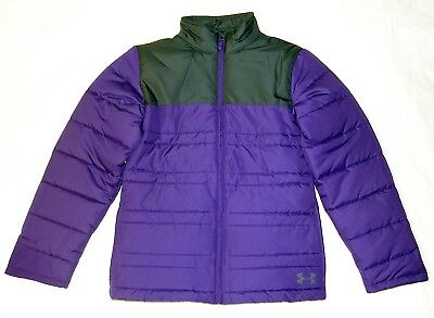 (X-Large, Purple/Gray) - Under Armour Girls' Armour Chill Jacket. Free Delivery