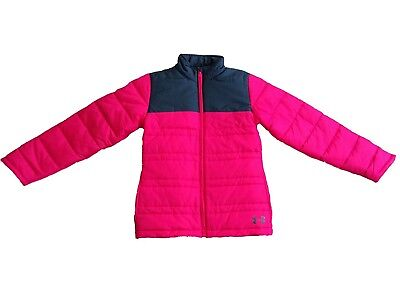 (Large, Pink/Gray) - Under Armour Girls' Armour Chill Jacket. Shipping is Free