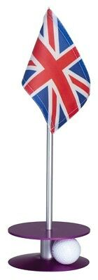 Anne Stone Golf Putt-A-Round UK Flag 1 Putting Aid, Purple, Small