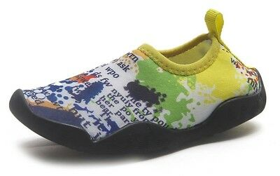 (1.5M US Little Kid, Yellow and White) - ChezMax Outdoor Kids Barefoot Water