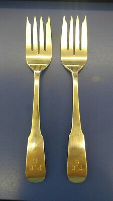 Old Newbury Crafters Pair of Sterling Salad Forks