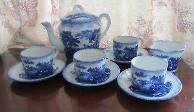Ridgways Antique Circa 1895 Scenes From Chas Dickens 'Old Curiosty Shop' Tea Set