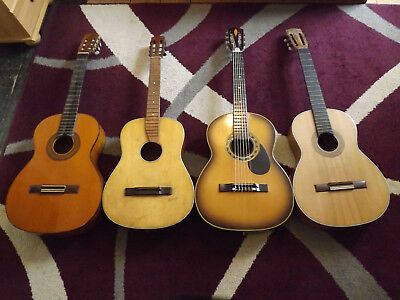 4 Vintage Guitars For Repair. Beltone.harmonie. A.dotras. J.estruch