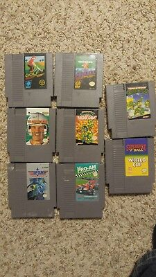 NES game lot including TMNT, RC Pro Am, and more