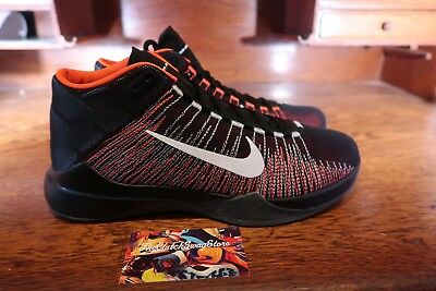 online retailer baa8b 47b0c New Nike Zoom Ascention Mens Basketball Shoes (832234-003) Black Red White
