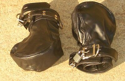Fist Mitts boundshop de KUB leather binding mitts handcuff Handschellen Leder