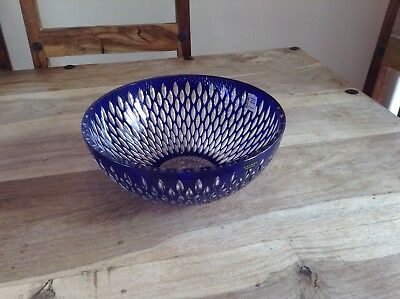 """Galway Classic Sapphire Raindrop Bowl 10"""" EXCELLENT CONDITION."""