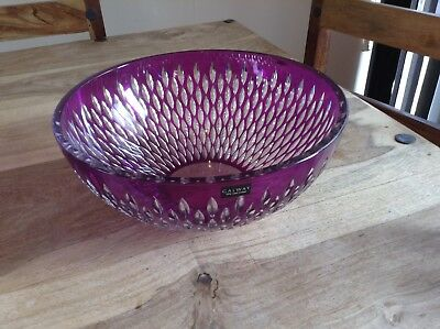 "Galway Classic Amethyst Raindrop Bowl 10"" EXCELLENT CONDITION."