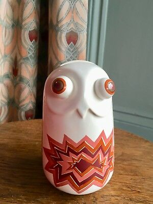 Carlton Ware Owl Money box/1970's/Vivienne Brennan design/Aztec pattern/bug eyed