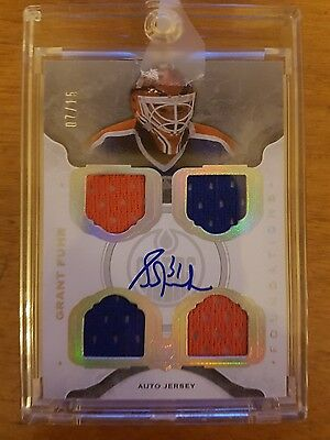 The Cup 2014-15 Grant Fuhr Foundations Auto Jersey 7/15