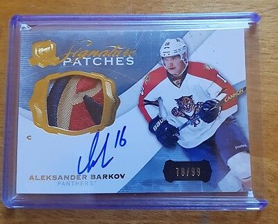 The Cup 2014-15 Aleksander Barkov Signature Patches Auto Patch 78/99