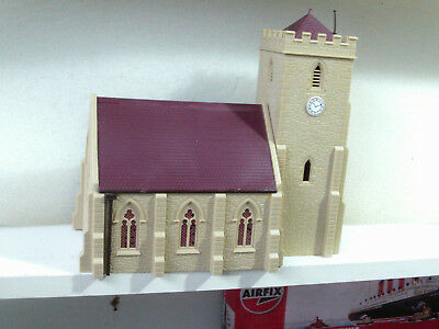 Hornby 00 Gauge Country Church built from kit.Excellent
