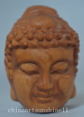 Exquisite Chinese Wood Statue Hand Carved Good&Evil Buddha Statue Art decoration