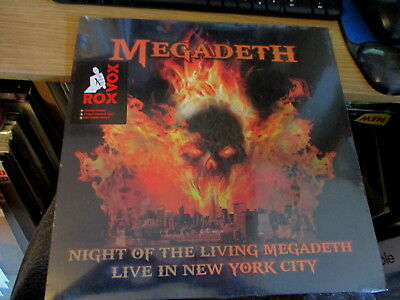 Lp Vinyl Record-Megadeth-Live New York City '94-Mint/sealed-Color Wax-Metal