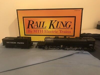 Rail King 4-8-8-2 Southern Pacific Powered Engine w/ Proto Sound and smoke. EXC!