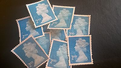 500 2nd class unfranked stamps, used, off paper