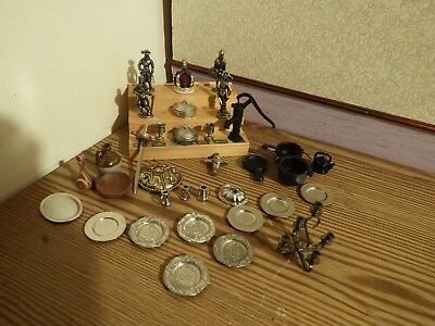 35  dolls house assortment job lot of Tudor  items shop/house  1.12th scale