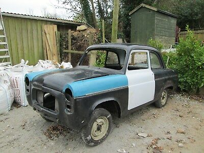 1956 Ford 100e rolling shell , project,2 door,hotrod,ford prefect,3rd time lucky