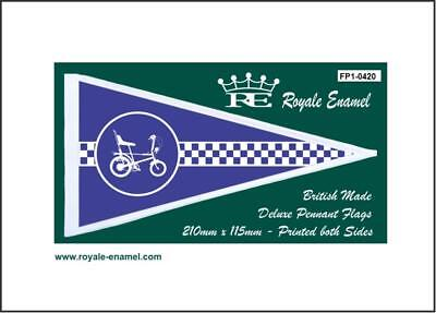 Royale Antenna Pennant Flag Raleigh Chopper Blue Fp1.0420