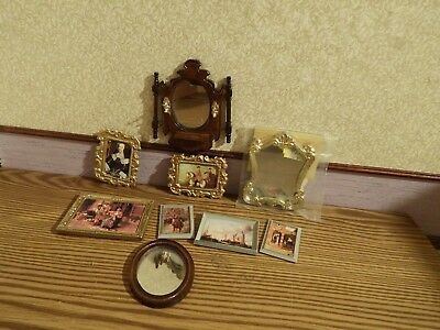 9  dolls house assortment job lot of mirror/picture  items shop/house  1.12th