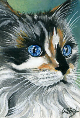 original aceo-cat face-painting oil