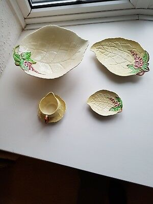 carlton ware foxglove dishes and milk jug