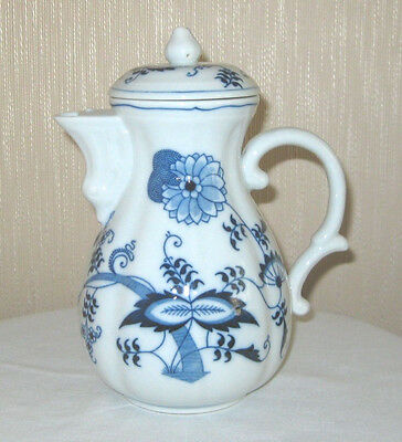 """Vintage Blue Danube (Japan) 8 1/2"""" Coffee Pot With Lid Rectangle Mark"""