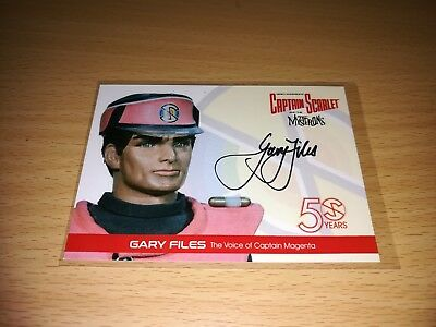 Captain Scarlet Gary Files Autograph GF4 Card by Unstoppable Cards 2017