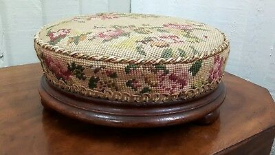 victorian tapestry foot stool