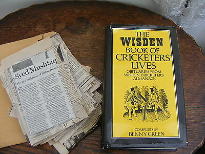 Wisden Book Of Cricketers Lives Obituaries+30 Newspaper Obituaries Of Cricketers