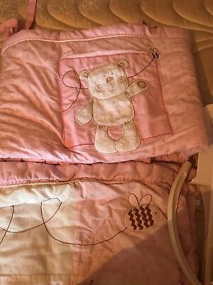 Baby Girl Cot Bedding And Mobile