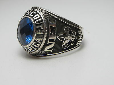 D28 , Sterling  Silver Ring _ Boy Scouts America _ The United States , Size 11.5