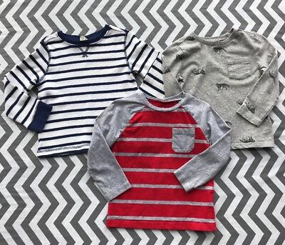 Lot Of 3 Size 3T Toddler Boys Long Sleeve Shirts Crazy 8