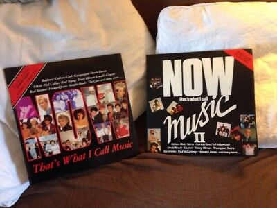 """Now That's What I Call Music 1 and 2 UK Double 12"""" Vinyl LPs Now 1 Now 2"""