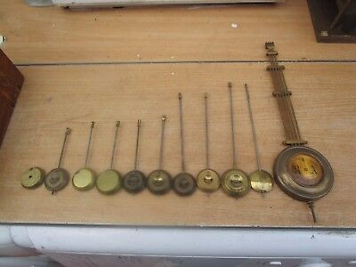 Job Lot Of 11 Vintage/antique Pendulums