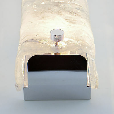 Vintage Bathroom Wall Sconce Light Thick Glass Mirror Lamp Chrome by KAISER ❤️