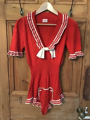 Brand new Agent Provocateur red sailor nautical body size M /AP 3 / UK 10-12