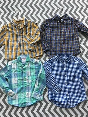 Lot Of 4 Size 2T Toddler Boys Collared Shirts Button Up Ralph Lauren Carters