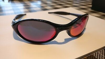 Oakley Eye Jacket 1.0 Cobalt Blue Positive Red Iridium Sunglasses RARE VINTAGE