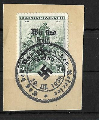 Germany Deutsches Reich , Sudetenland  SIGNED
