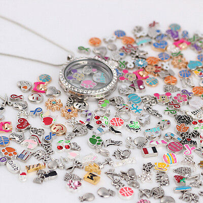 50pcs Fashion Cute Floating Charms BIG DEAL For Glass Living Memory Locket 2019