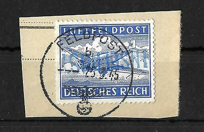 GERMANY WK II INSELPOST INSEL LEROS Mi.11 STAMPED USED Pr.1800 € SIGNED