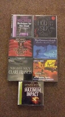 Job lot 7 x audio book CD crime Henderson Durbridge Marshall Macbride Horowitz