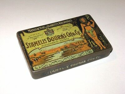 WW1 period Tobacco tin with cigarette packets and lighter?